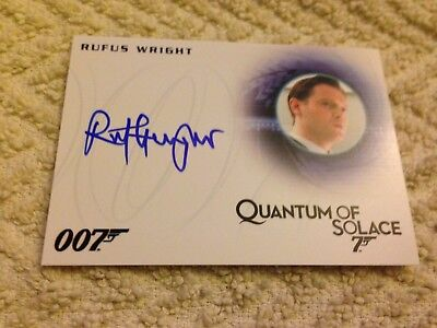 James Bond Archives 2015 Autograph Card A277 Rufus Wright as Treasury Agent