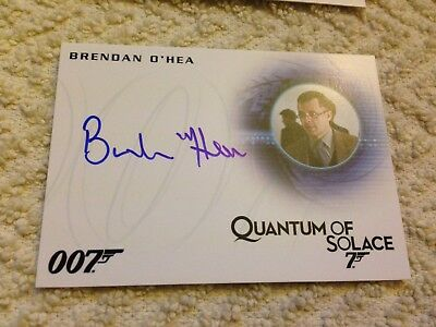 James Bond Archives 2015 Autograph Card A274 Brendan O'Hea as Technician
