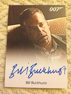 James Bond Archives 2015 Autograph Card Bill Buckhurst As Ronson