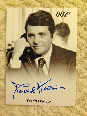 James Bond Archives 2015 Autograph Card David Hedison as Felix Leiter