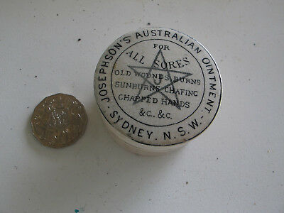 Josephson's Australian Ointment For All Sores, Old Wounds Burns, Sunburns Chafin