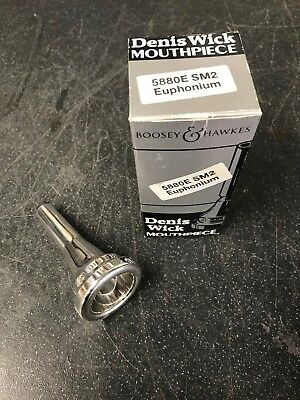 Denis Wick SM2 Bb Euphonium Mouthpiece-New,Unused-Silver Plated
