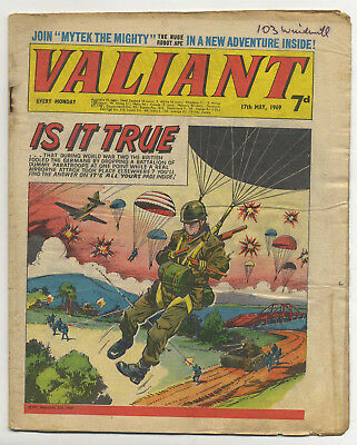 Valiant 17th May 1969 (mid-grade copy) Steel Claw, Mytek, Kelly's Eye