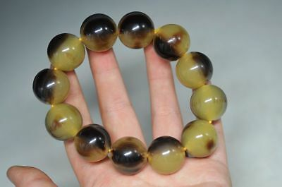 Exquisite Chinese nature Beeswax bead woven elastic bracelet