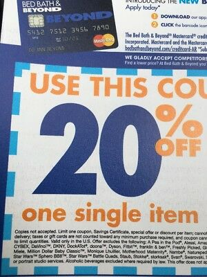 100 Bed Bath and Beyond 20% Off Single Item EXPIRED Online Or In Store