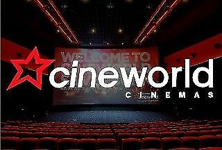 Cineworld Cinema Ticket Code - No Booking Fee - Expiry 03 April 2019