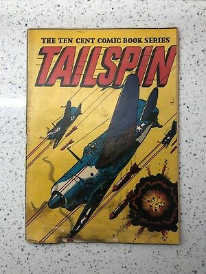Tailspin #1 (1944) LB Cole classic WW2 cover! Comic Book Golden Ages