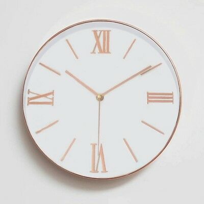 1X(12 Inch Universal Silent Non-ticking Roman Numeral Wall Clock - Large DeN6S9)