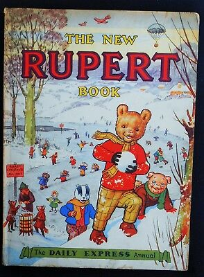 Vintage Original 1951 Rupert Bear Annual, Price Unclipped 4/9