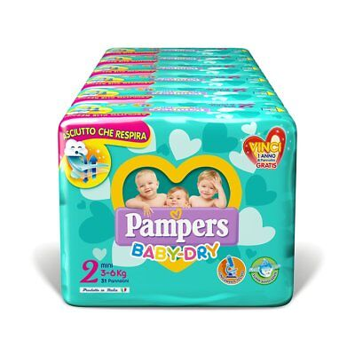 Pampers Baby-Dry Daipers - Size 2 (3-6 KG) - 186 stuks