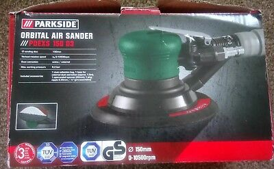 Parkside Orbital Air Sander PDEX 150 D3 variable rotation speed
