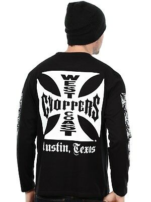 T-shirt à manches longues West Coast Choppers OG Cross Noir