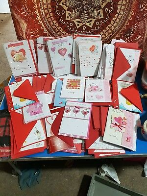 Job lot Valentines Day cards (1 x Box of 100mixed cards)