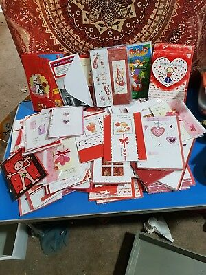 Job lot Valentines Day cards (1 x Box of  100 mixed cards) job lot 2