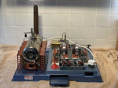 Model Steam Engine - Wilesco D32 El. Includes Box, Instructions & Catalogue