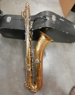Vintage King Bari Sax Baritone Saxophone !Good Fixerupper!