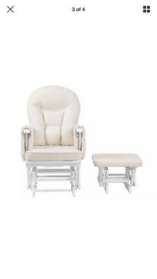 Baby Feeding Rocking Chair Nursery Cream White A* Quality Already Put Together