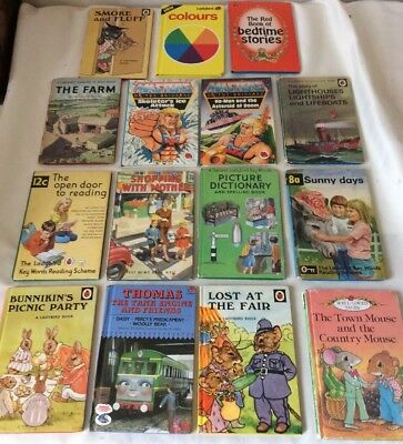 15 Vintage Ladybird Books incl. Thomas The Tank Engine 1st Edition 1970's-1990's