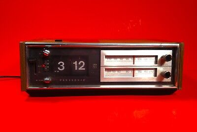 Vintage 1970's Panasonic Flip Clock Am/Fm Radio Working