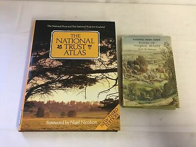 2x The National Trust Books Atlas Places of Natural Beauty UK Guide