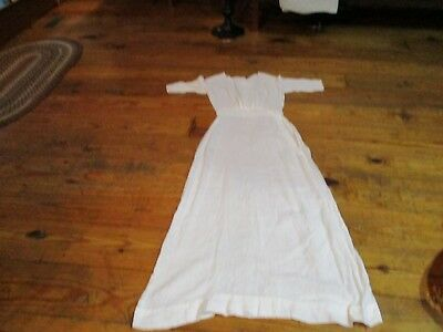 Antique Lady's Prairie Or Wedding Dress--Late 1800's