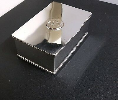 Silver plated box with 1831 coin.
