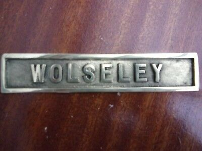 Wolseley stationary engine brass plate plaque, 6""