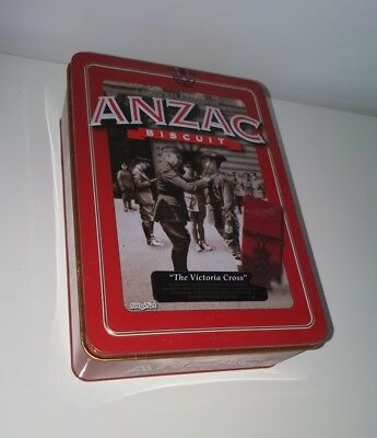 Victoria Cross VC empty UNIBIC ANZAC biscuit tin