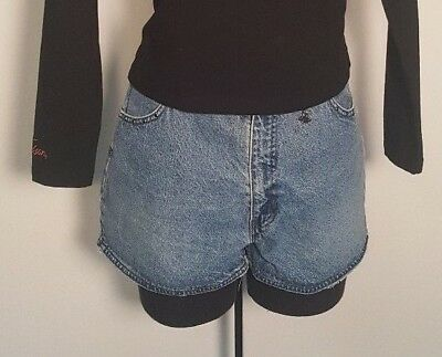 Denim Shorts Size 10 Med Womens Harley Davidson Women Jean Blue High Waist Cut