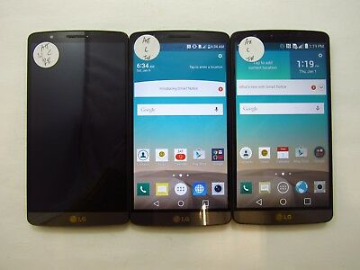 Lot of 3 LG G3 D850 ATT Check IMEI Fair Condition 5-1240