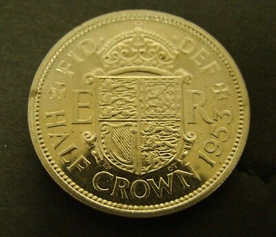 1953 GREAT BRITAIN HALF CROWN Proof    Foreign Coin
