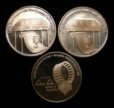 1- 1978 State Of Israel Wedding .935 Silver Medal