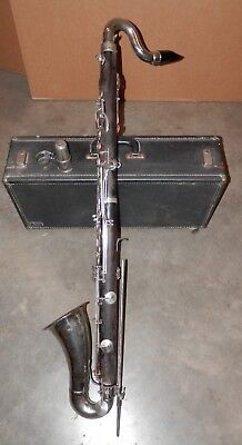 Vintage Leblanc Paris Wood Bass Clarinet !NORESERVE!