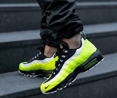 New NIKE Air Max 95 Mens Sneakers volt white black all sizes
