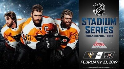 2 Tickets, Section 124 Penguins vs Flyers - 2019 NHL Stadium Series
