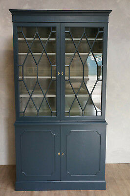Painted George III Mahogany and Pine Bookcase