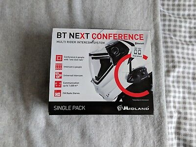 Midland BT Next Conference Single Bluetooth Motorcycle Intercom Communication