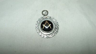 Silver Masonic Watch Fob