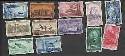1956 Us Mint C0Mmemorative Complete Year Set 12 Stamps Mnh 1073 1074 1076-1085