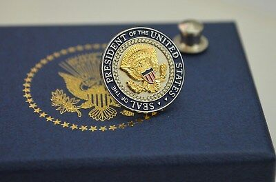 Presidential Seal/ Shield Lapel Pin~Round Shield Series~White House Issue Only