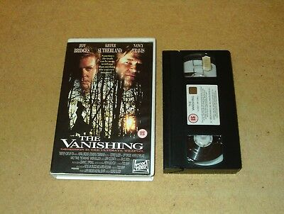 The Vanishing - Ex-Rental Big Box VHS Video Jeff Bridges CBS-Fox Embossed Box
