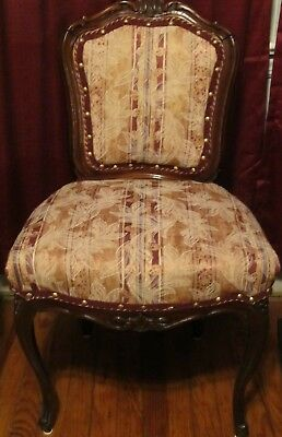 1937 ANTIQUE CHAIR Hand Carved Custom Made, Solid Wood