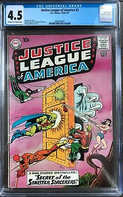 Justice League of America #2 CGC 4.5 2nd J.L.A in its own title!KEY ISSUE!L@@K!