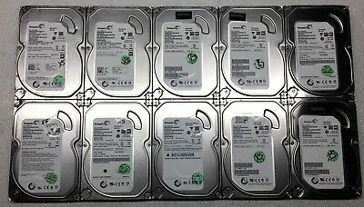 """Lot of 10 Seagate 500GB Desktop HDD 3.5"""" SATA 7200RPM Mixed *Tested and Working*"""