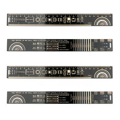 4x 25CM Multifunctional PCB Ruler Measuring Tool Resistor Capacitor Chip IC SMD