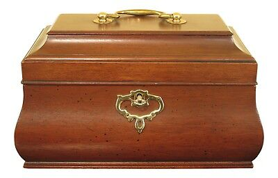 F30509EC: VIRGINIA METALCRAFTERS Colonial Williamsburg Mahogany Tea Caddy
