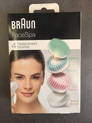 [BRAUN] FaceSpa 80mv REPLACEMENT brushes for combination skin,Pack of 4