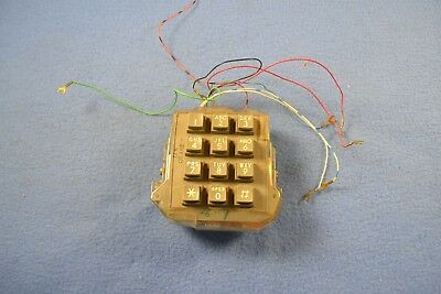 Vintage Western Electric Telephone Keypad Push Button Phone Touchpad 35AF3A 5-77