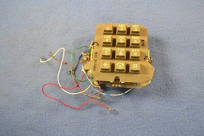 Vintage Stromberg Carlson Telephone Keypad  Button Phone Touchpad S-C 35A3A 8-76