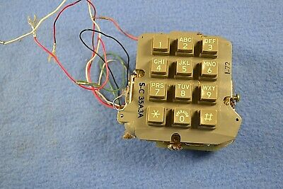 Vintage Stromberg Carlson Telephone Keypad  Button Phone Touchpad S-C 35A3A 1-72